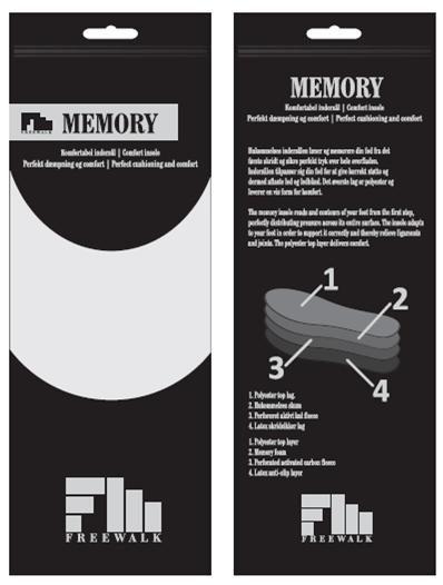 Memory foam sula emballage