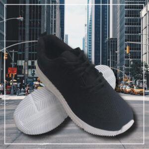 Bali sneakers skor black white