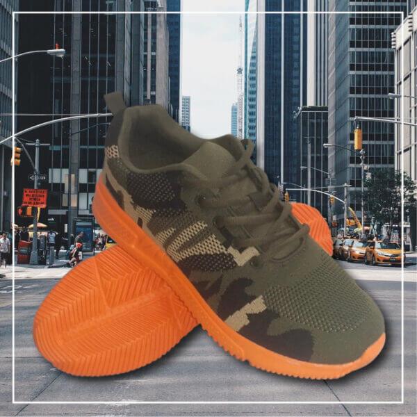 Bali sneakers skor camo orange