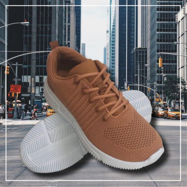 Bali sneakers skor brun vit